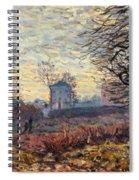 Landscape Near Louveciennes Spiral Notebook