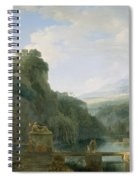 Landscape Of Ancient Greece Spiral Notebook