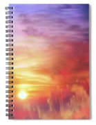 Landscape Of Dreaming Poppies Spiral Notebook