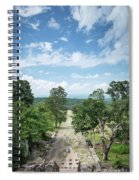 Landscape View From Preah Vihear Mountain In North Cambodia Spiral Notebook