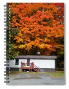 Landscape View Of Mobile Home 1 Spiral Notebook