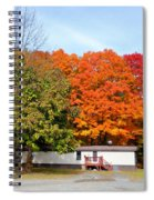 Landscape View Of Mobile Home 2 Spiral Notebook