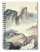 Landscape Village Spiral Notebook