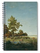 Landscape With A Clump Of Trees Spiral Notebook