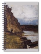 Landscape With A Figure Of His Brother Vasily Ivanovich Surikov Spiral Notebook