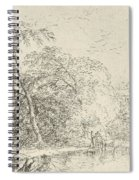 Landscape With A Herdsmen Spiral Notebook