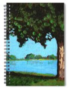Landscape With A Lake And Tree Spiral Notebook