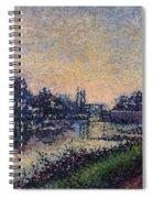 Landscape With A Lock 1885 Spiral Notebook