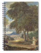 Landscape With A Man Washing His Feet At A Fountain Spiral Notebook