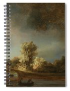 Landscape With A Stone Bridge Spiral Notebook
