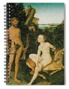 Landscape With Apollo And Diana Spiral Notebook