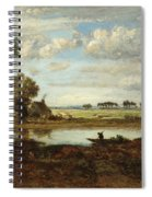 Landscape With Boatman Spiral Notebook