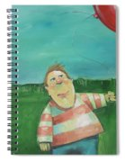Landscape With Boy And Red Balloon Spiral Notebook