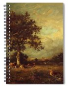 Landscape With Cows 1870 Spiral Notebook