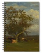 Landscape With Cows Spiral Notebook
