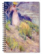 Landscape With Figure In Pink Spiral Notebook
