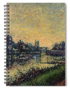 Landscape With Lock 1886 Spiral Notebook