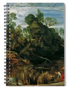 Landscape With Milkmaids And Cows Spiral Notebook