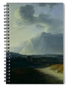 Landscape With Mount Stromboli Spiral Notebook