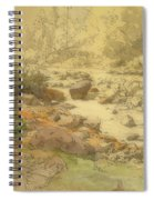 Landscape With Rocks In A River Spiral Notebook