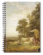 Landscape With Shepherds And Shepherdesses Near A Well Spiral Notebook