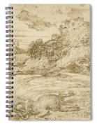 Landscape With St. Theodore Overcoming The Dragon Spiral Notebook