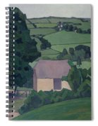 Landscape With Thatched Barn Spiral Notebook