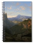 Landscape With The Castle Of Montsegur Spiral Notebook