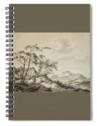 Landscape With Three Ramblers Spiral Notebook