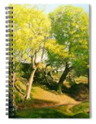 Landscape With Trees In Wales Spiral Notebook