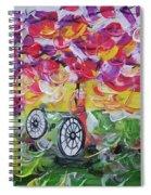 Landscape Women Bike Spiral Notebook