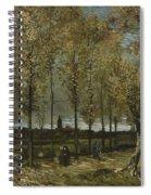 Lane With Poplars Near Nuenen Spiral Notebook
