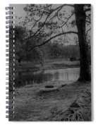 Langan Park In Black And White Spiral Notebook