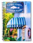 Lang's Marina Seafood Market Spiral Notebook