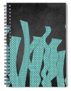 Languettes 02 - Aqua Spiral Notebook