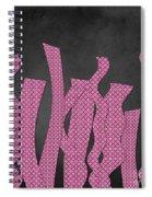 Languettes 02 - Pink Spiral Notebook