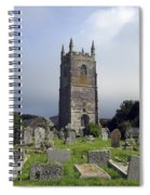Lansallos Church Cornwall Spiral Notebook