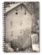 Lanterman's Mill In Mill Creek Park Black And White Spiral Notebook