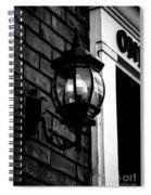 Lantern Black And White Spiral Notebook