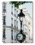 Lantern Clock Spiral Notebook