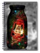 Lantern In Glass Jar Spiral Notebook