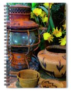 Lantern With Baskets Spiral Notebook