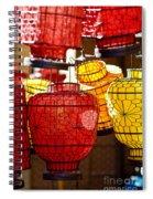 Lanterns In Market Place Spiral Notebook
