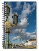 Lanterns On Westminster Spiral Notebook