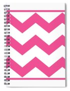 Large Chevron With Border In French Pink Spiral Notebook