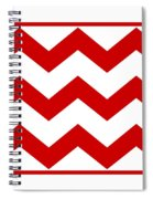 Large Chevron With Border In Red Spiral Notebook