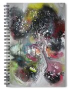 Large Color Fever Abstract25-original Abstract Painting Spiral Notebook