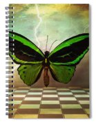 Large Green Wings Spiral Notebook