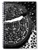 Large Oreo Black And White  Spiral Notebook