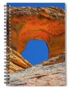Large Sandstone Arch Valley Of Fire Spiral Notebook